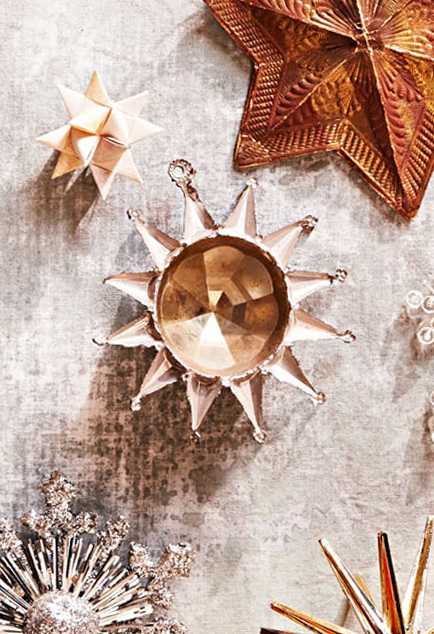 12 point star vintage ornament