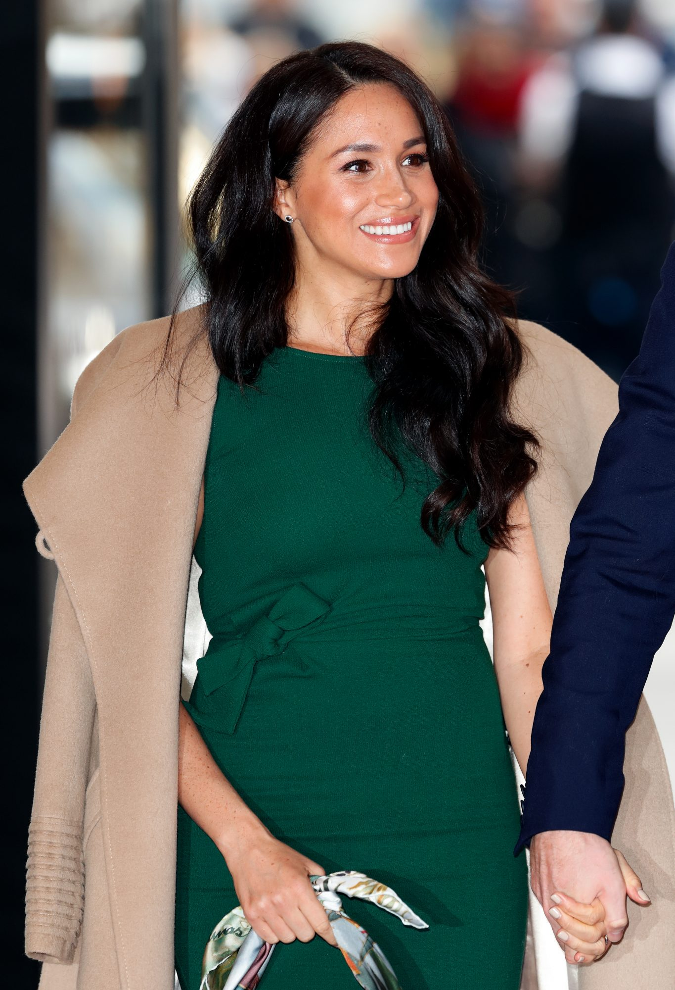 meghan markle wearing her engagement dress to royal event