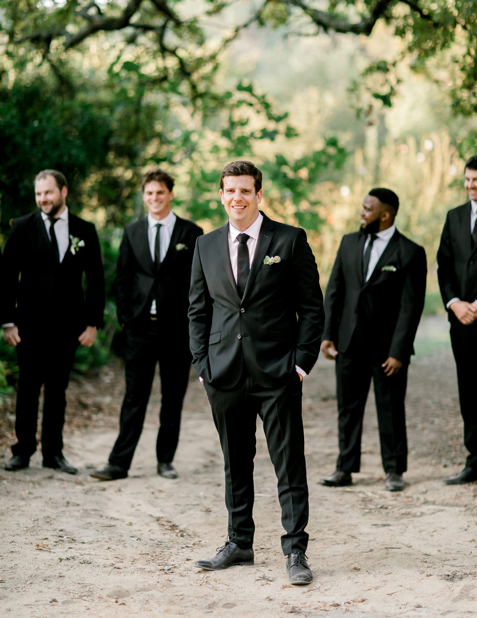 rorisang stehen wedding groom and groomsmen