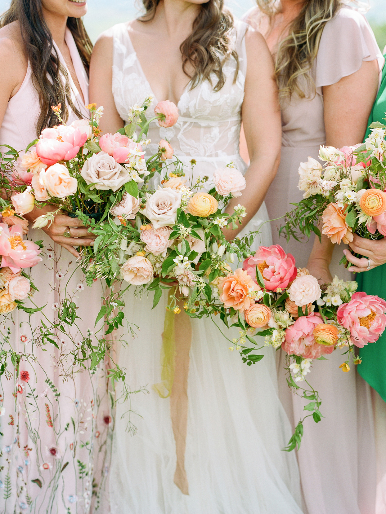 logan conor wedding bouquets orange and pink
