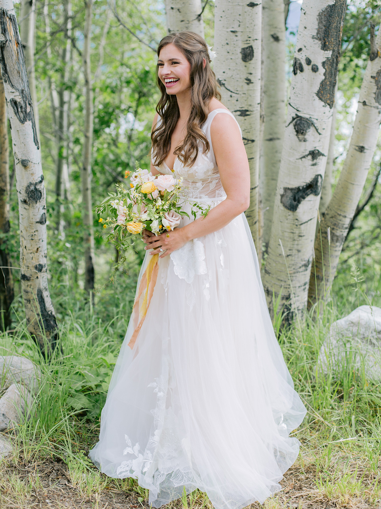 logan conor wedding bride among the trees