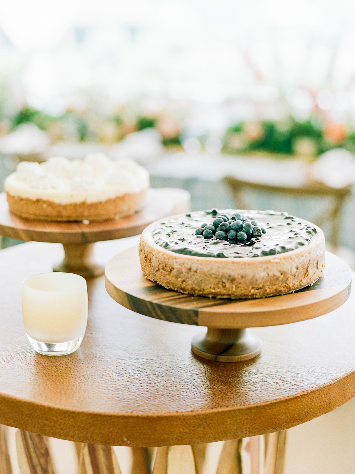 logan conor wedding cheesecake with blueberries