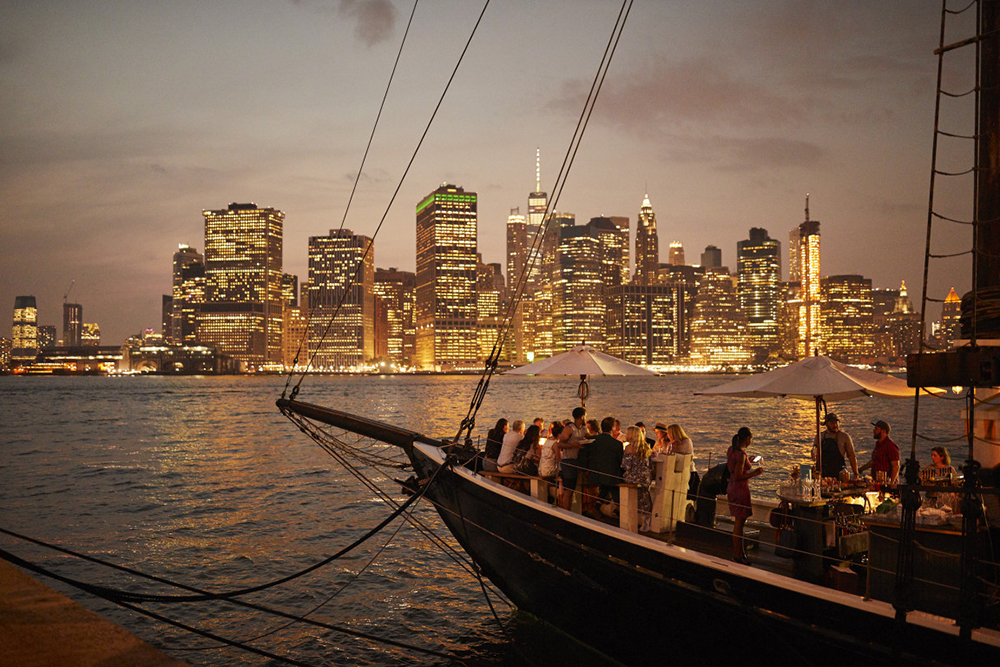 sailboat wedding venue manhattan view