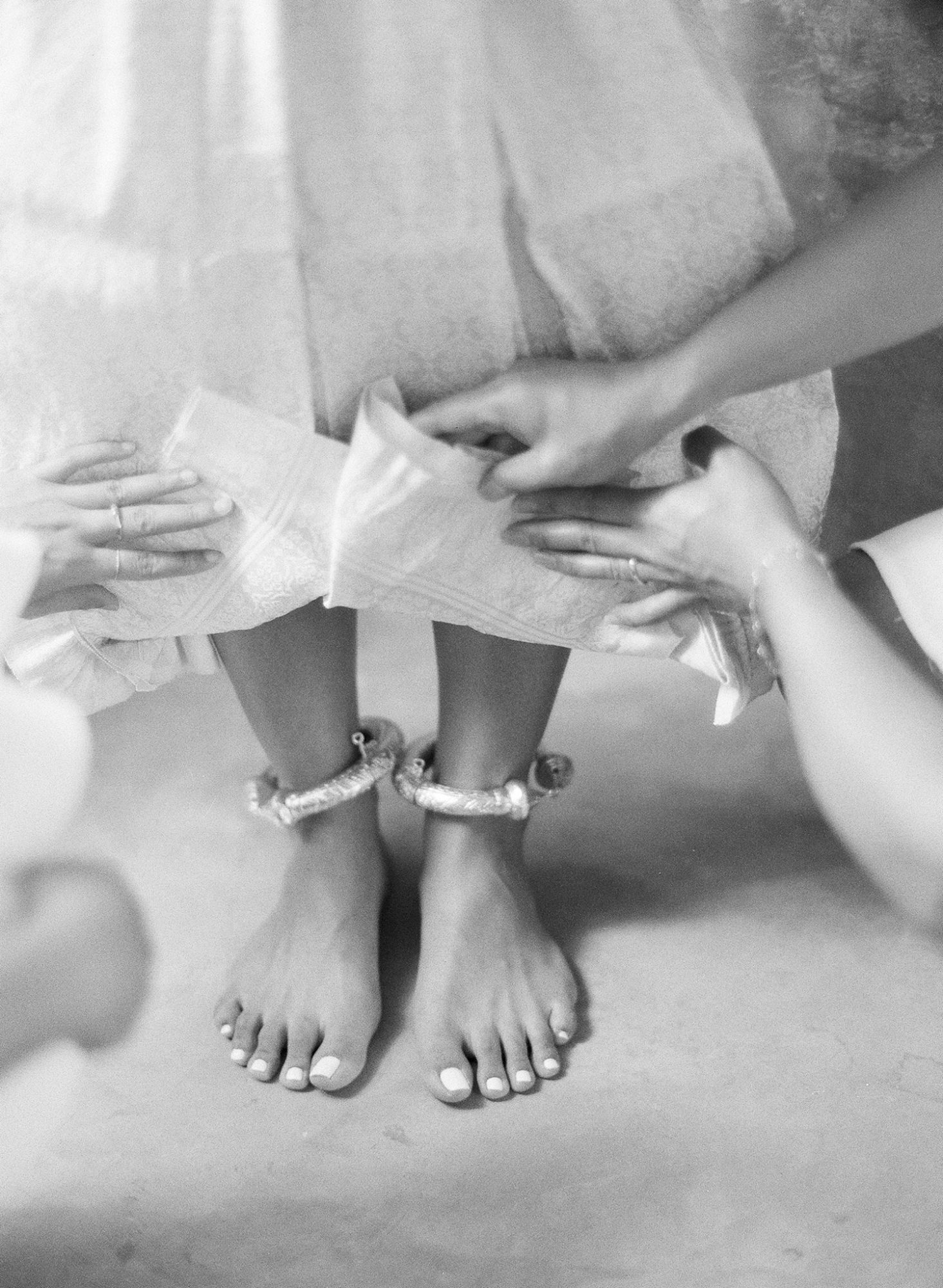 sophie ankle-bangles black and white photo