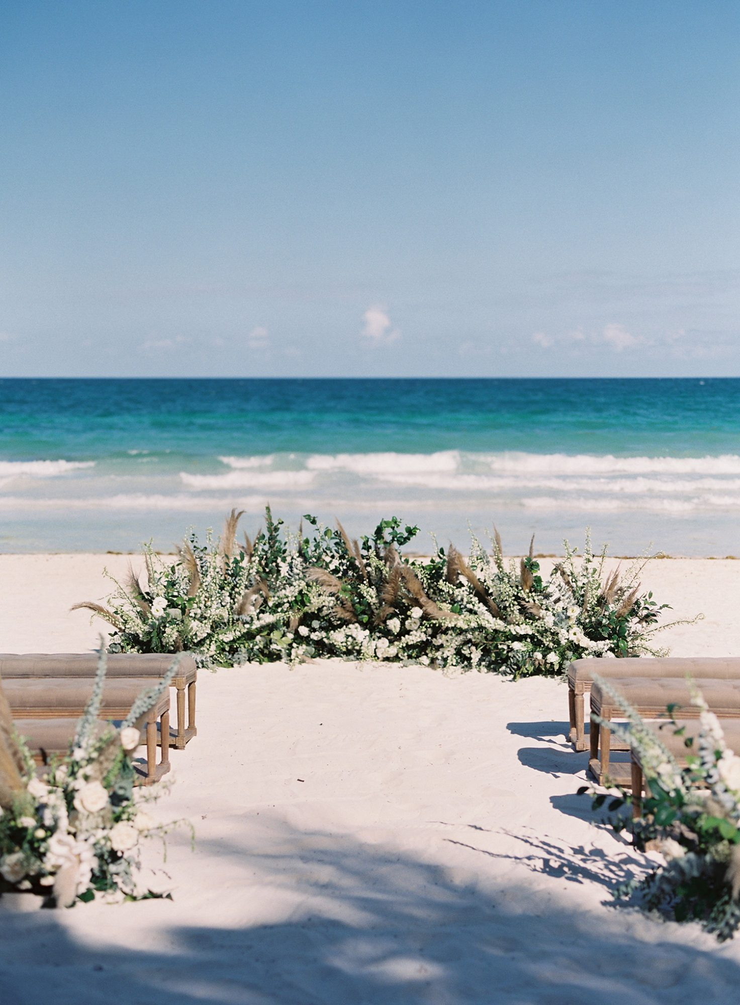 sophie jordan wedding ceremony beach space