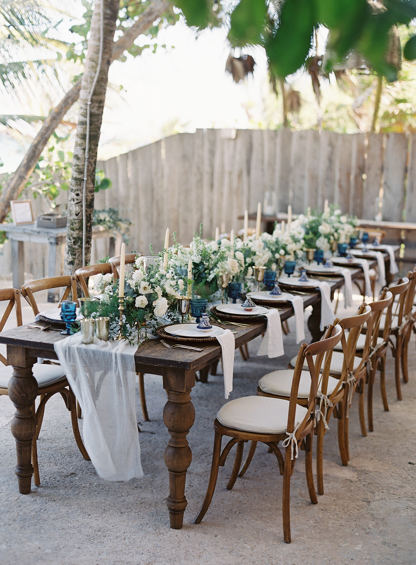 reception table and chairs