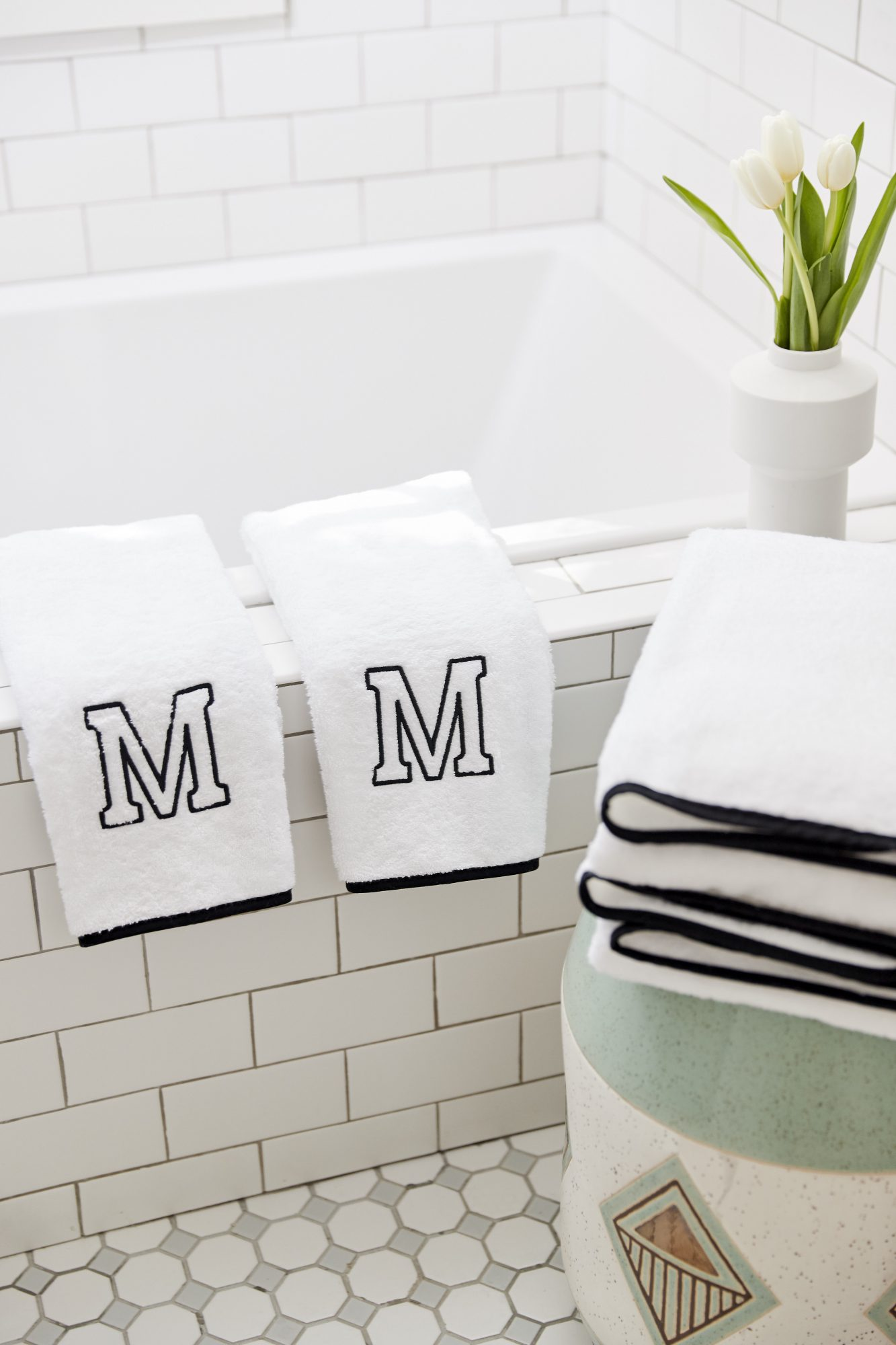 Monogrammed Bath Towels from Weezie