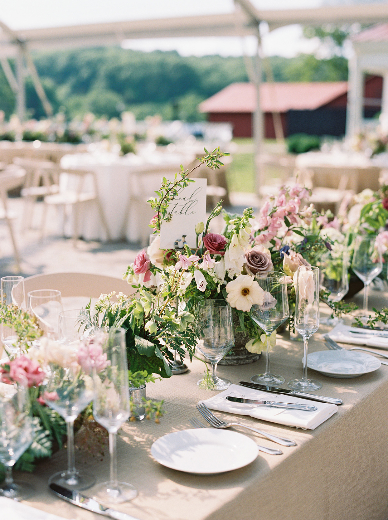 julia doug wedding reception floral centerpieces