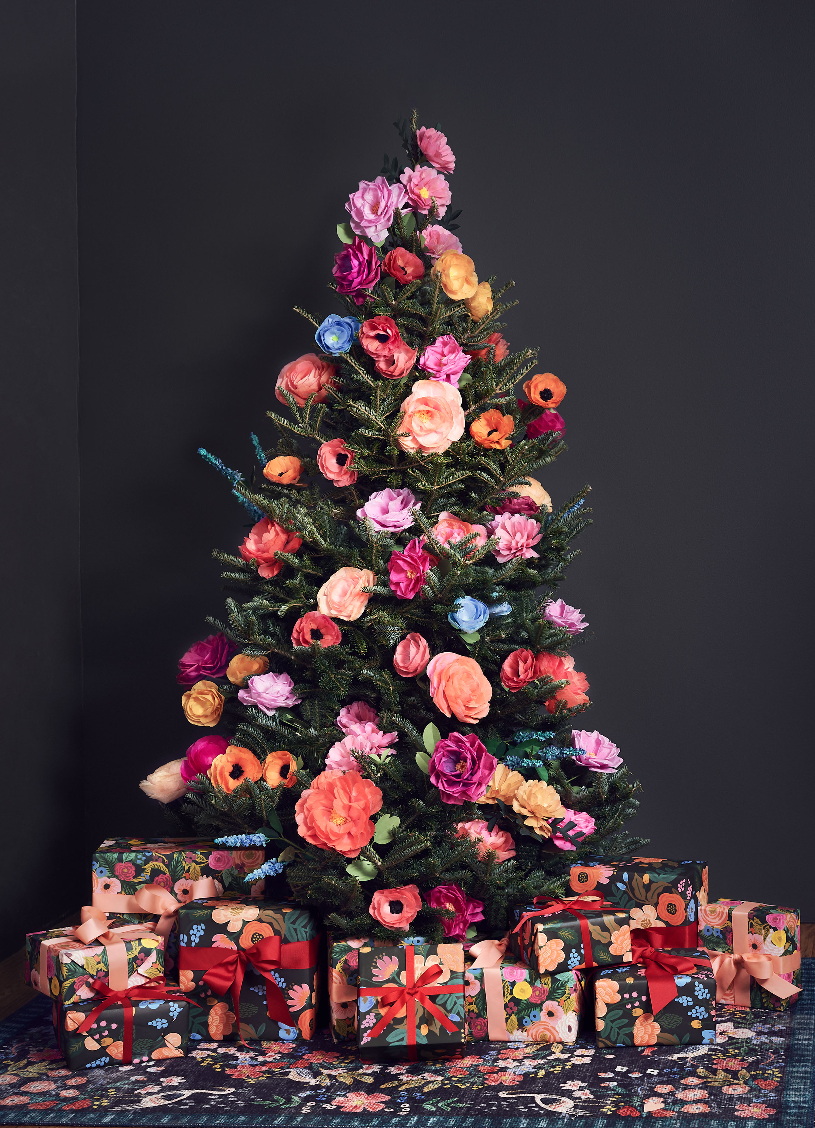 Floral Christmas tree by Rifle Paper Co.