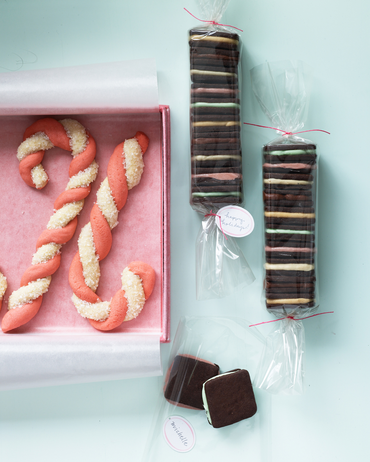 candy cane shaped cookies