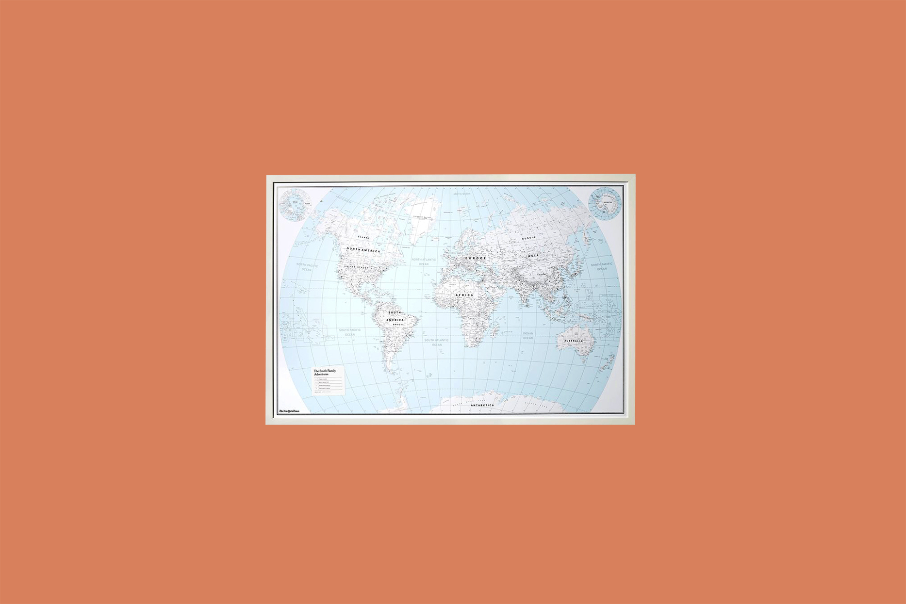 New York Times World Map Poster