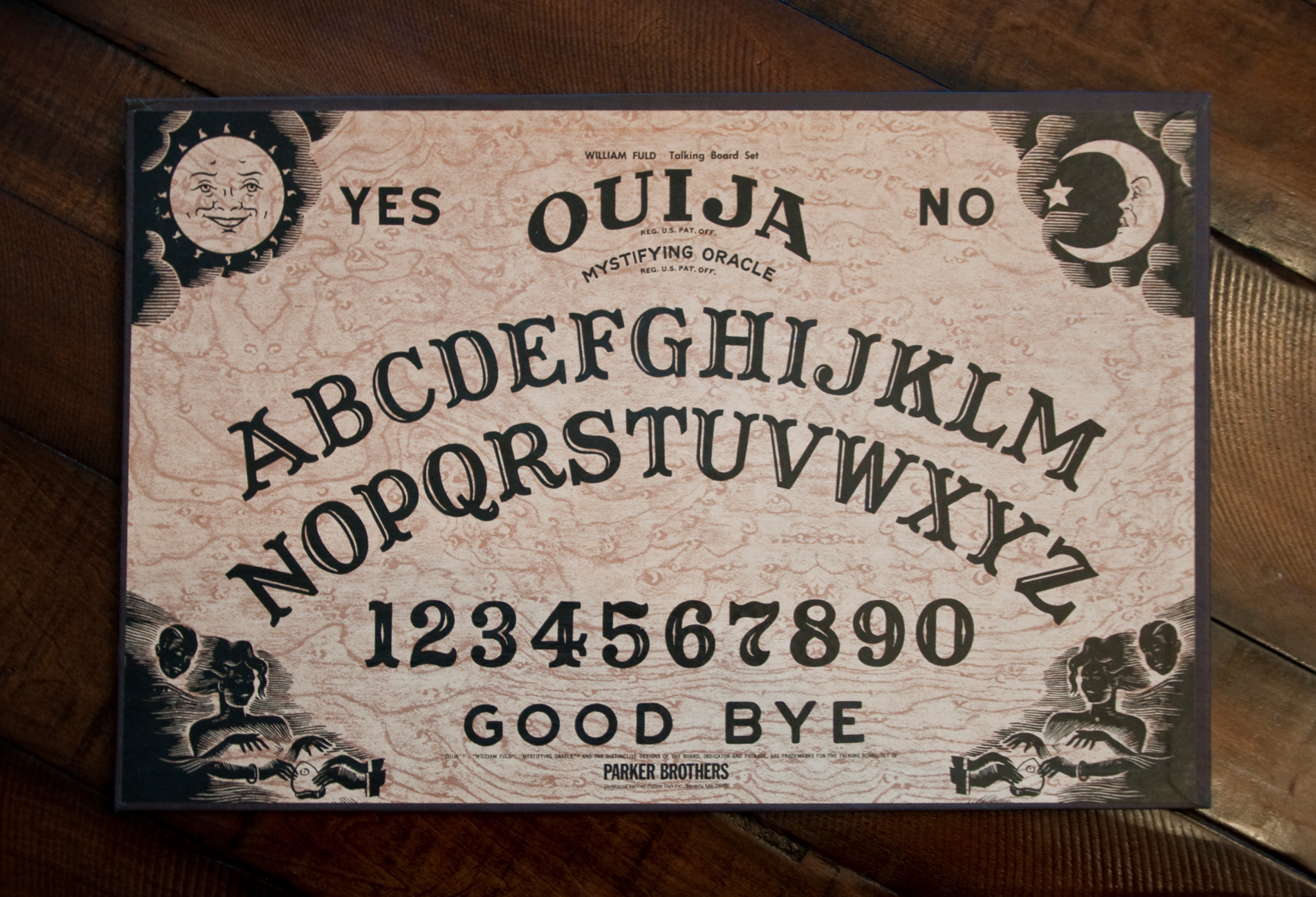Ouija Board on a Table