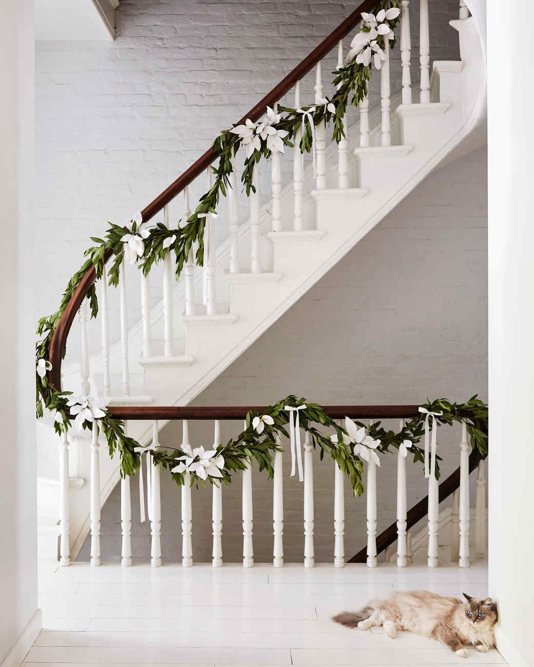 plaster-dipped leaves on a holiday garland