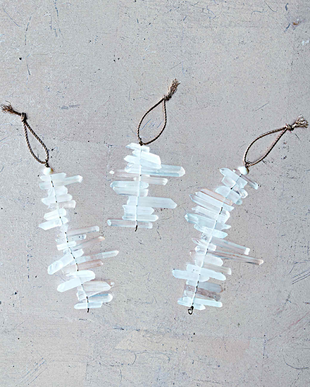 quartz icicle ornaments