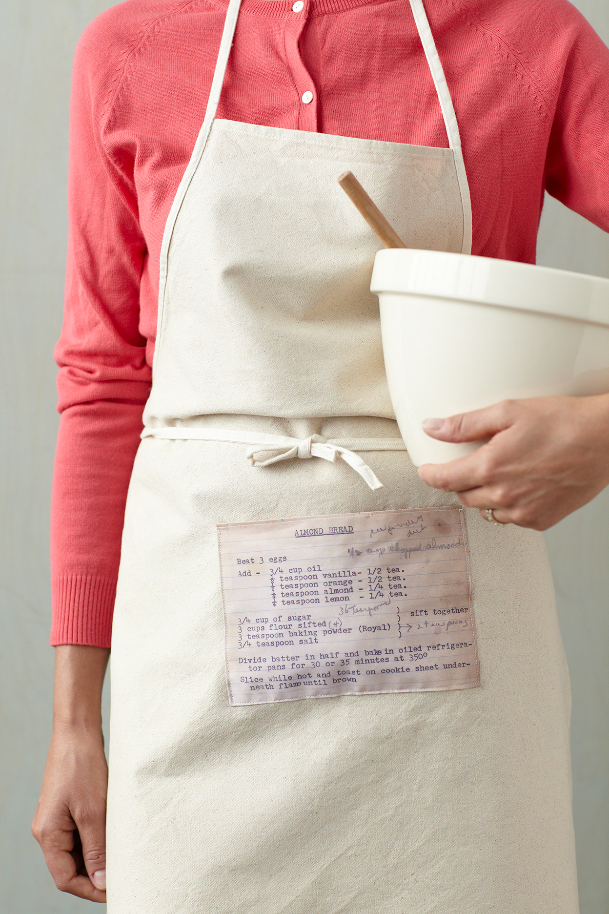 recipe printed apron
