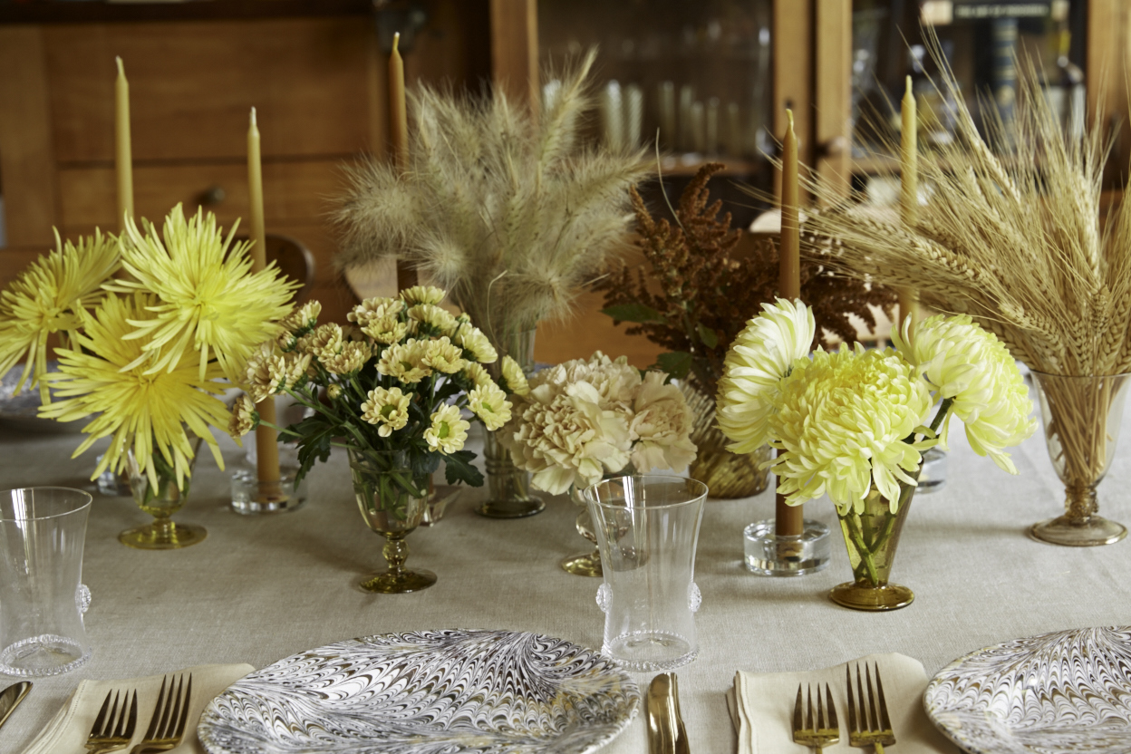 Thanksgiving gold table