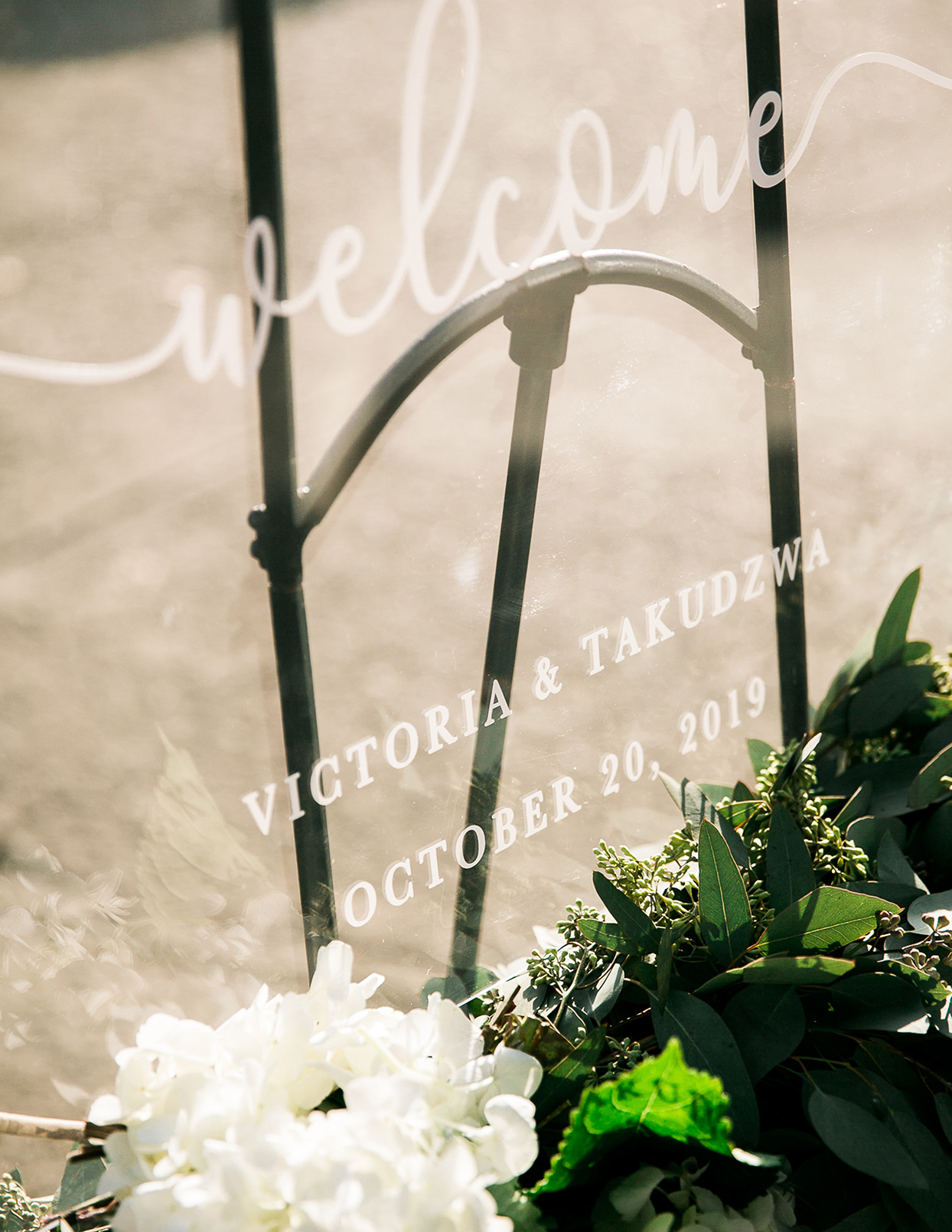 victoria tk wedding glass sign