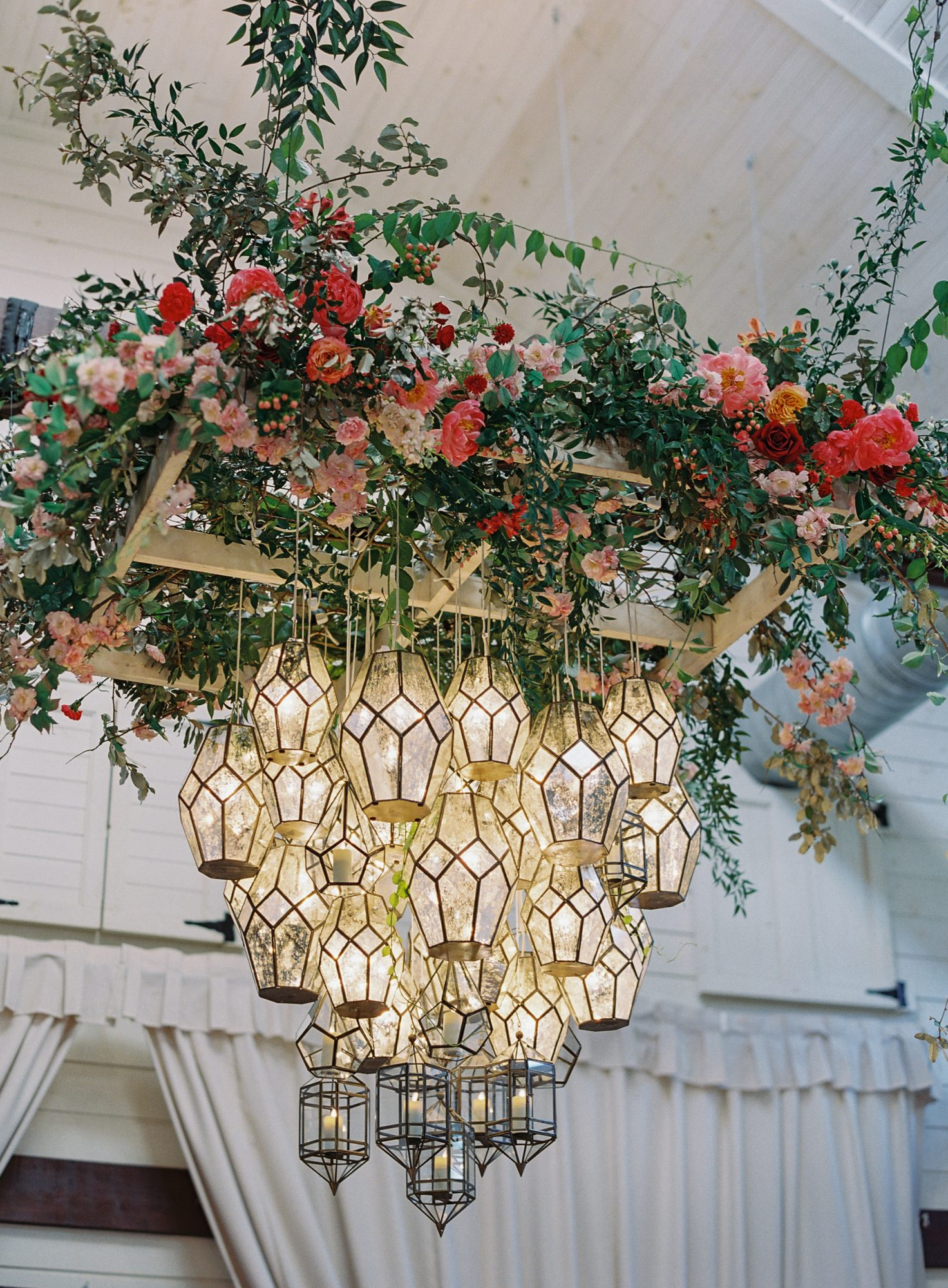 ronita ryan wedding reception chandelier