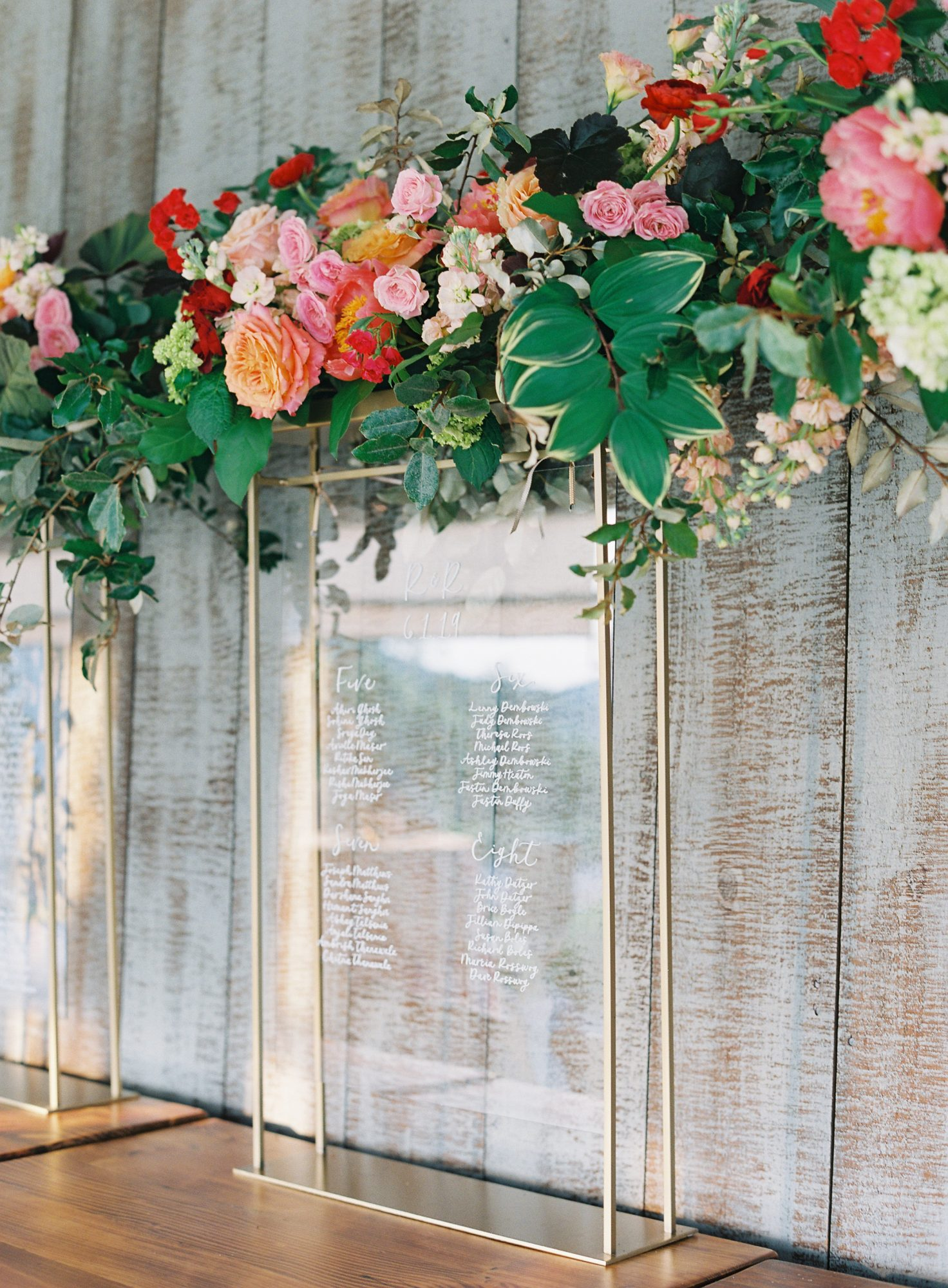 ronita ryan wedding glass seating chart