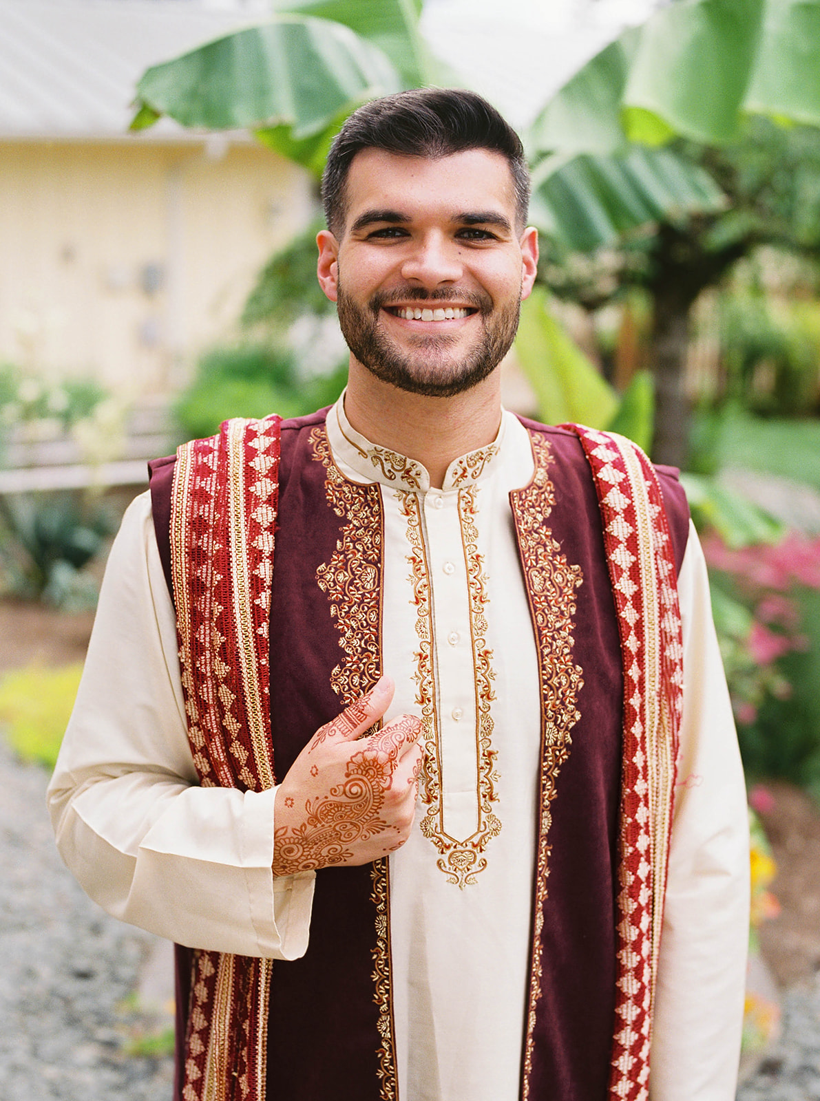 justin kevin wedding kevin's traditional Indian attire