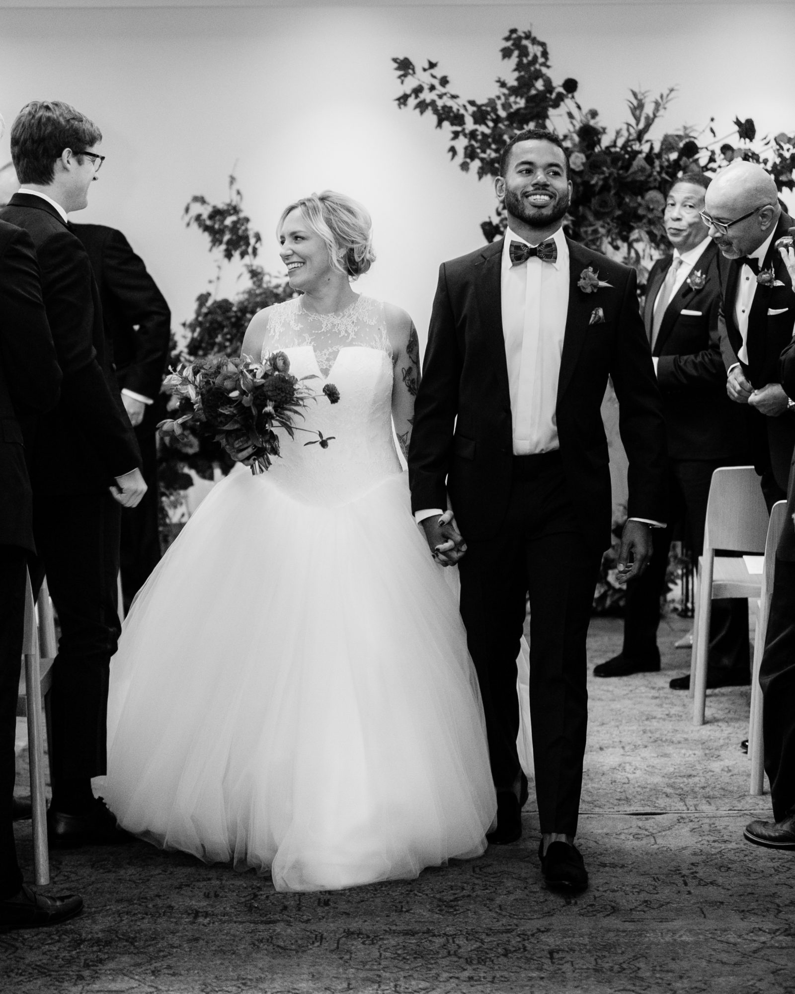 meaghan and david bride and groom recessional