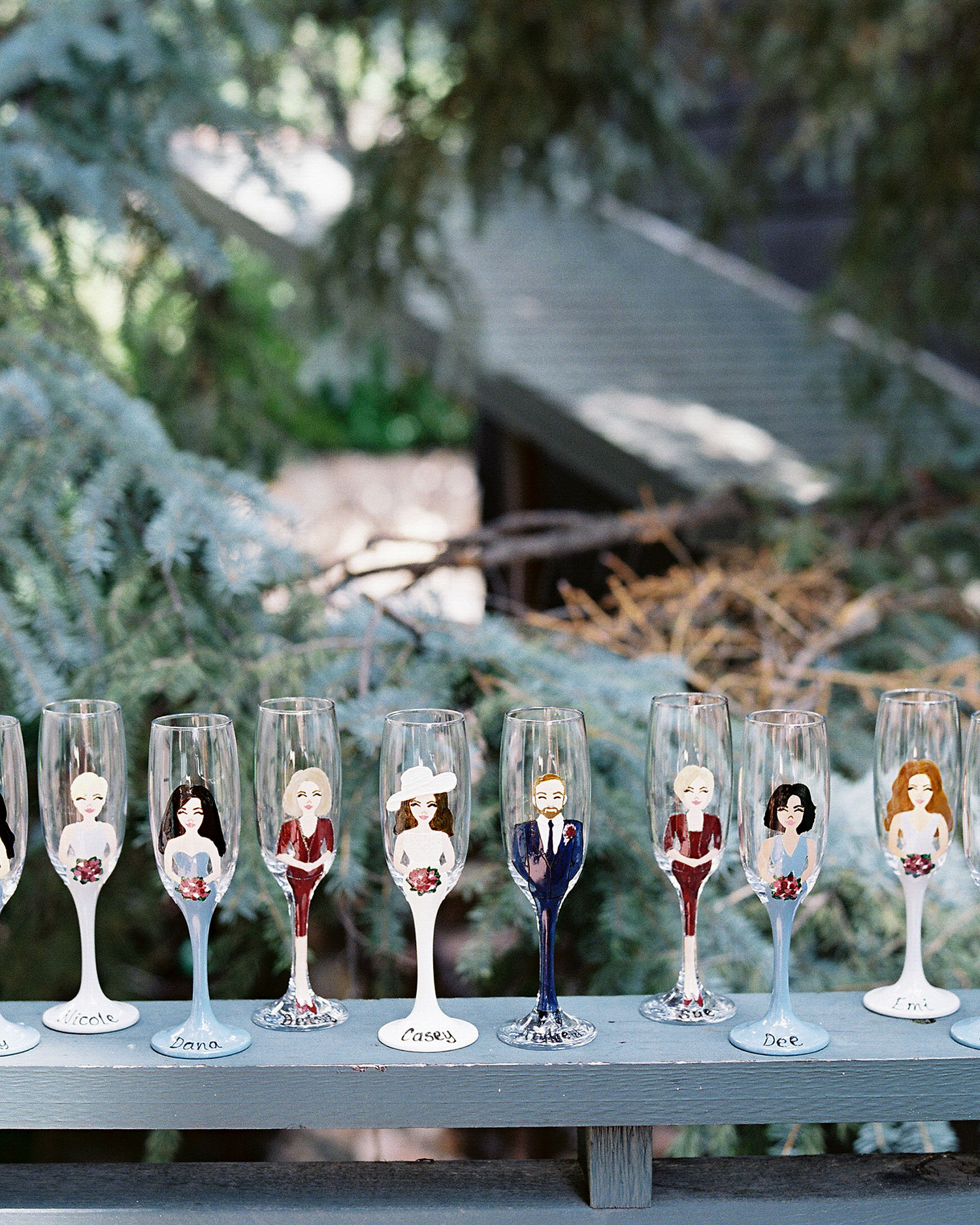 Casey Andrew Wedding Reception Head Table Glasses