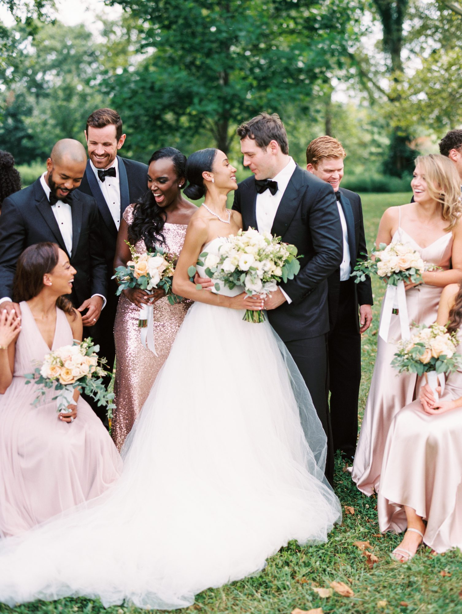 erinn andrew couple bridal party