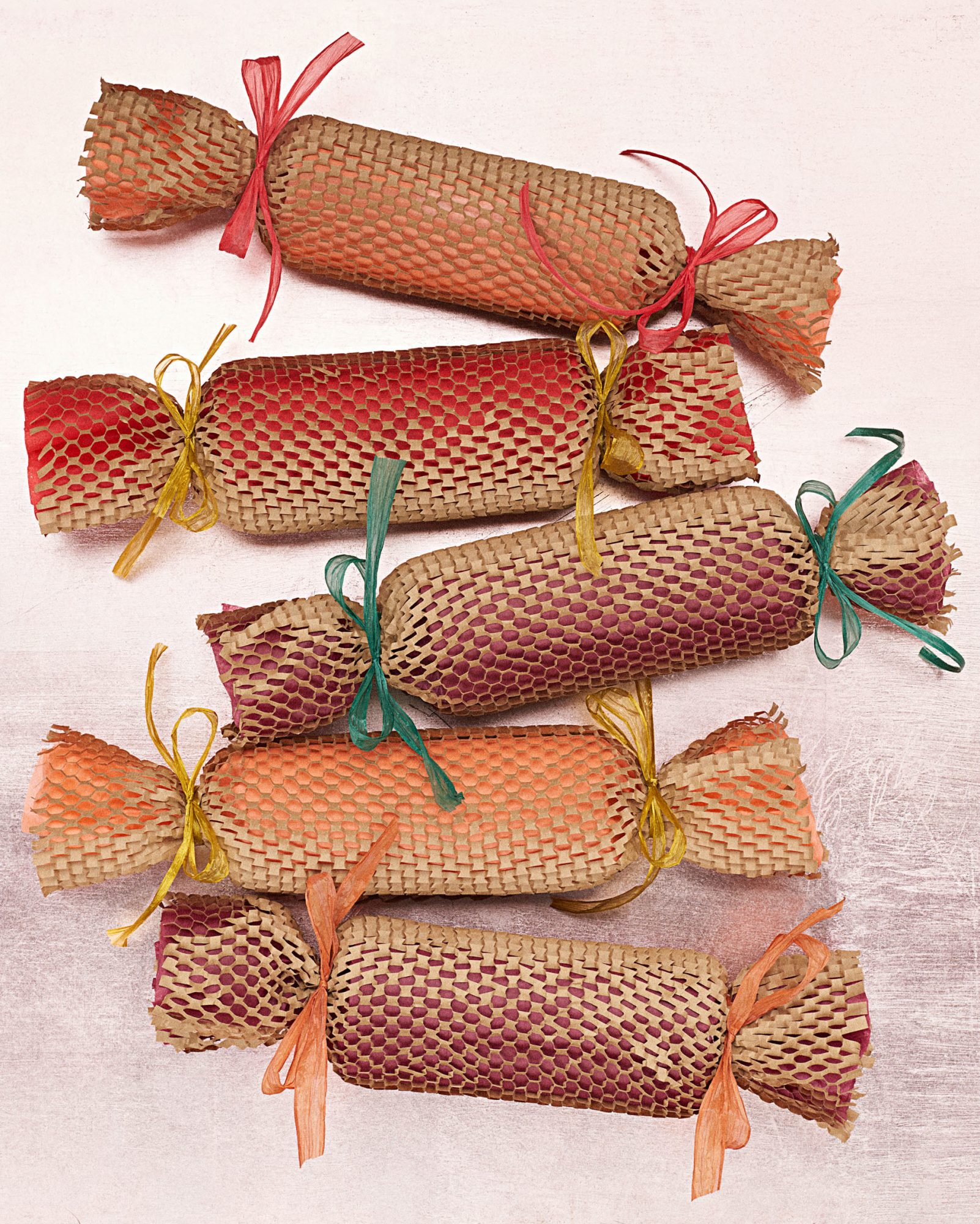 brown mesh Christmas cracker