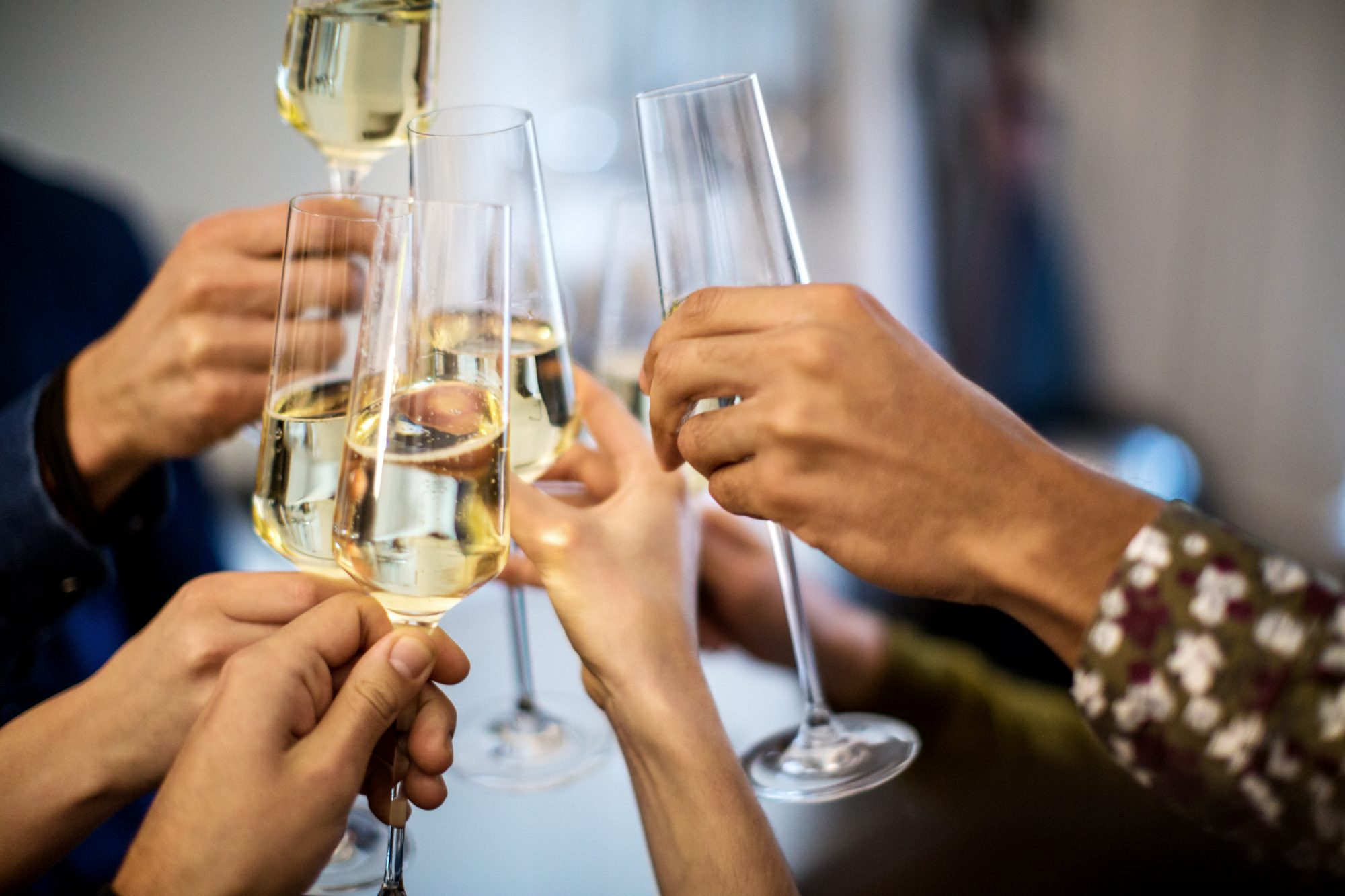 Champagne Toast, New Year's Eve Dinner Party