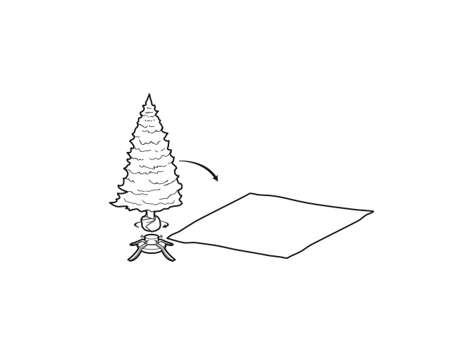 christmas tree removal cloth sheet illustration