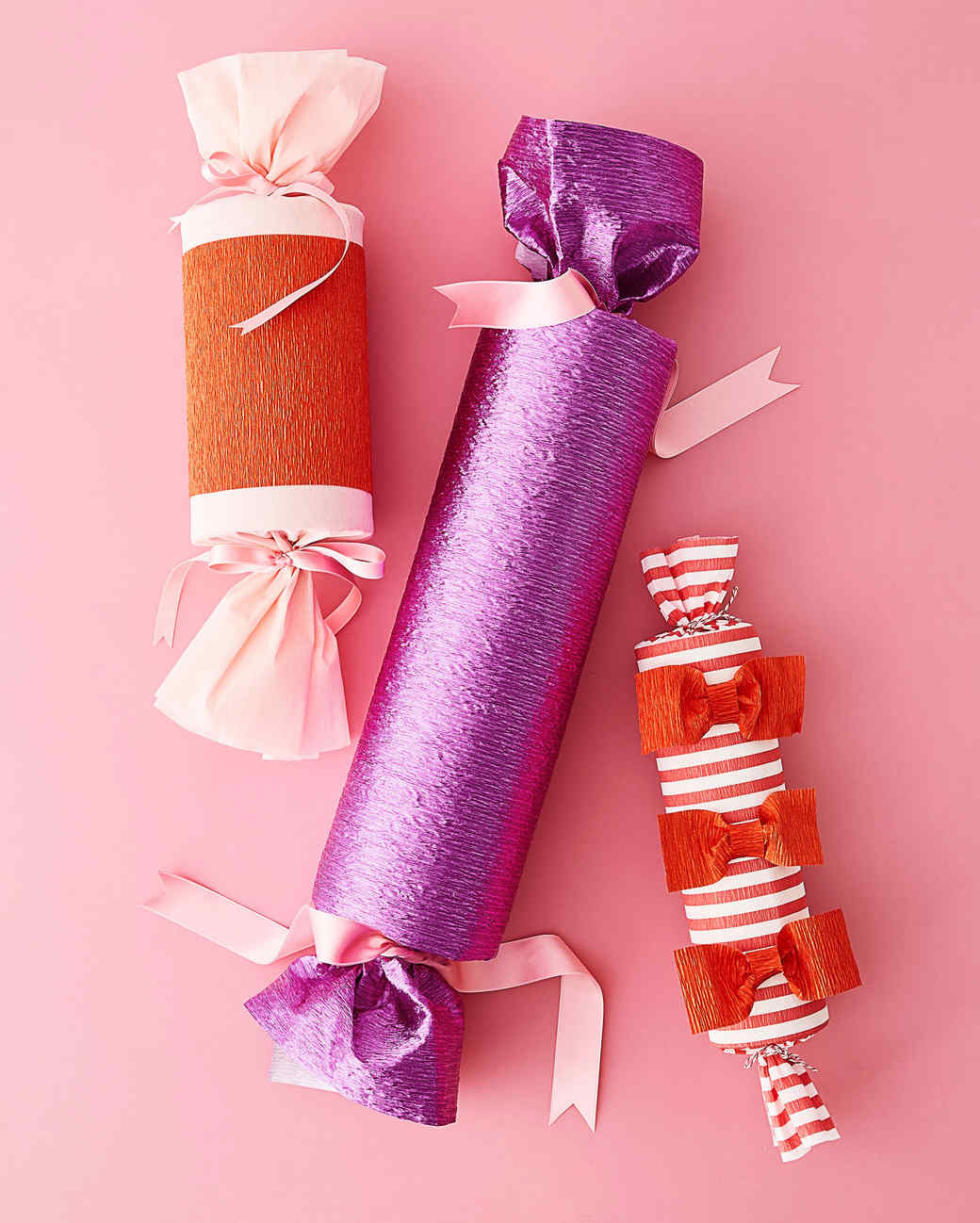 crepe paper gift wrapping tubes
