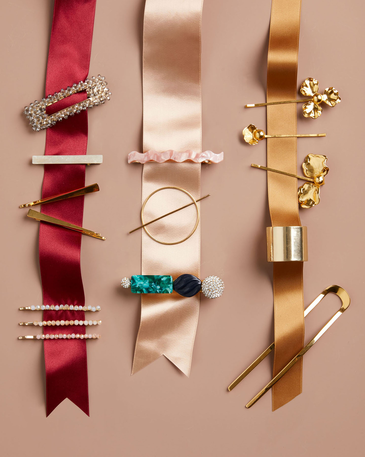 crown jewel hair accessories and ribbons