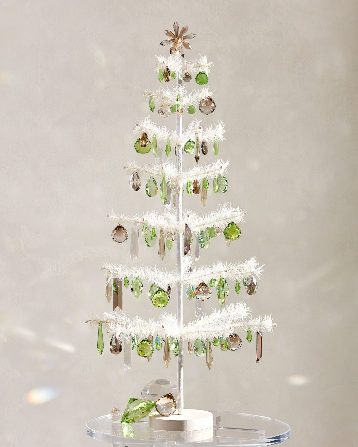 crystal decorated Christmas tree