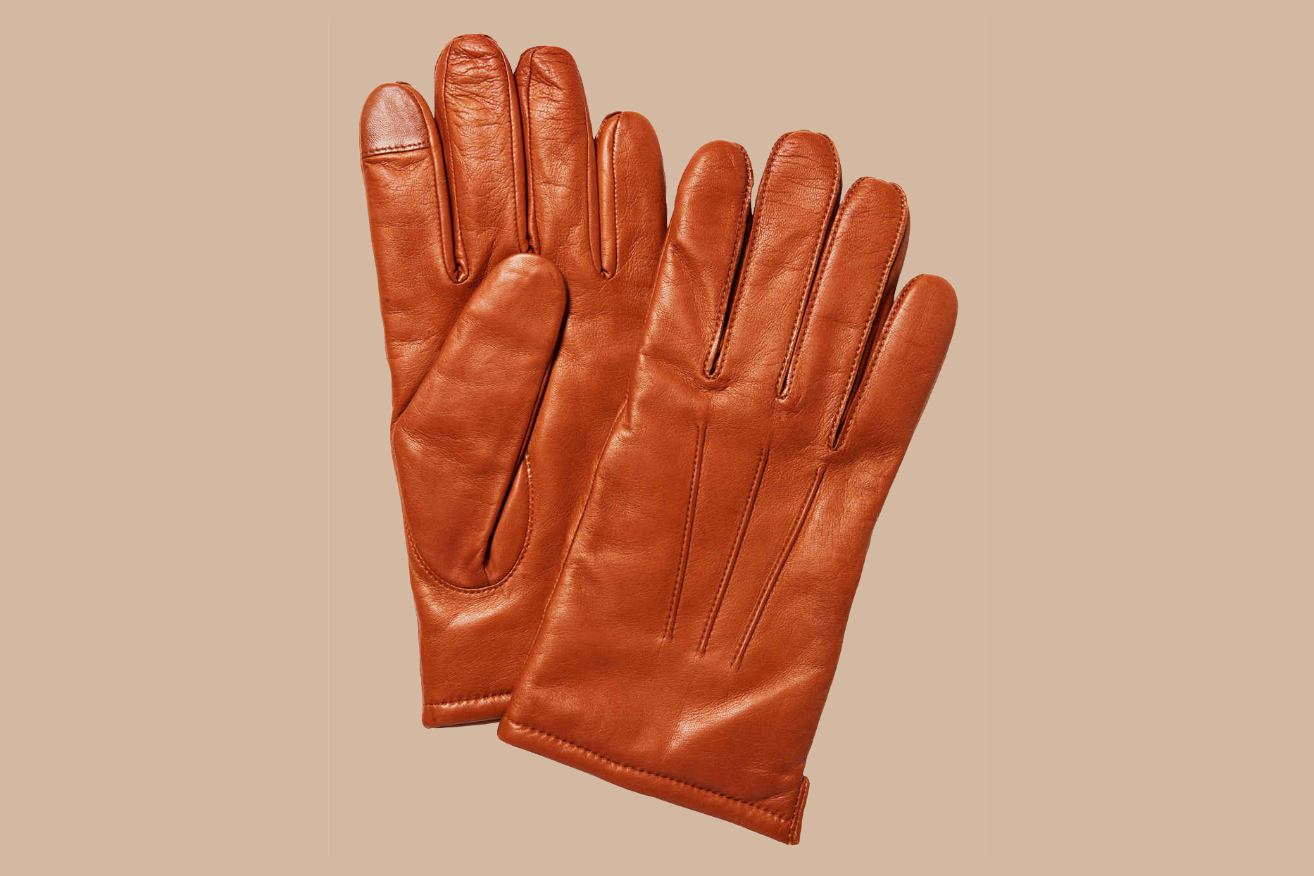 J. Crew Leather Gloves with Wool-Cashmere Lining