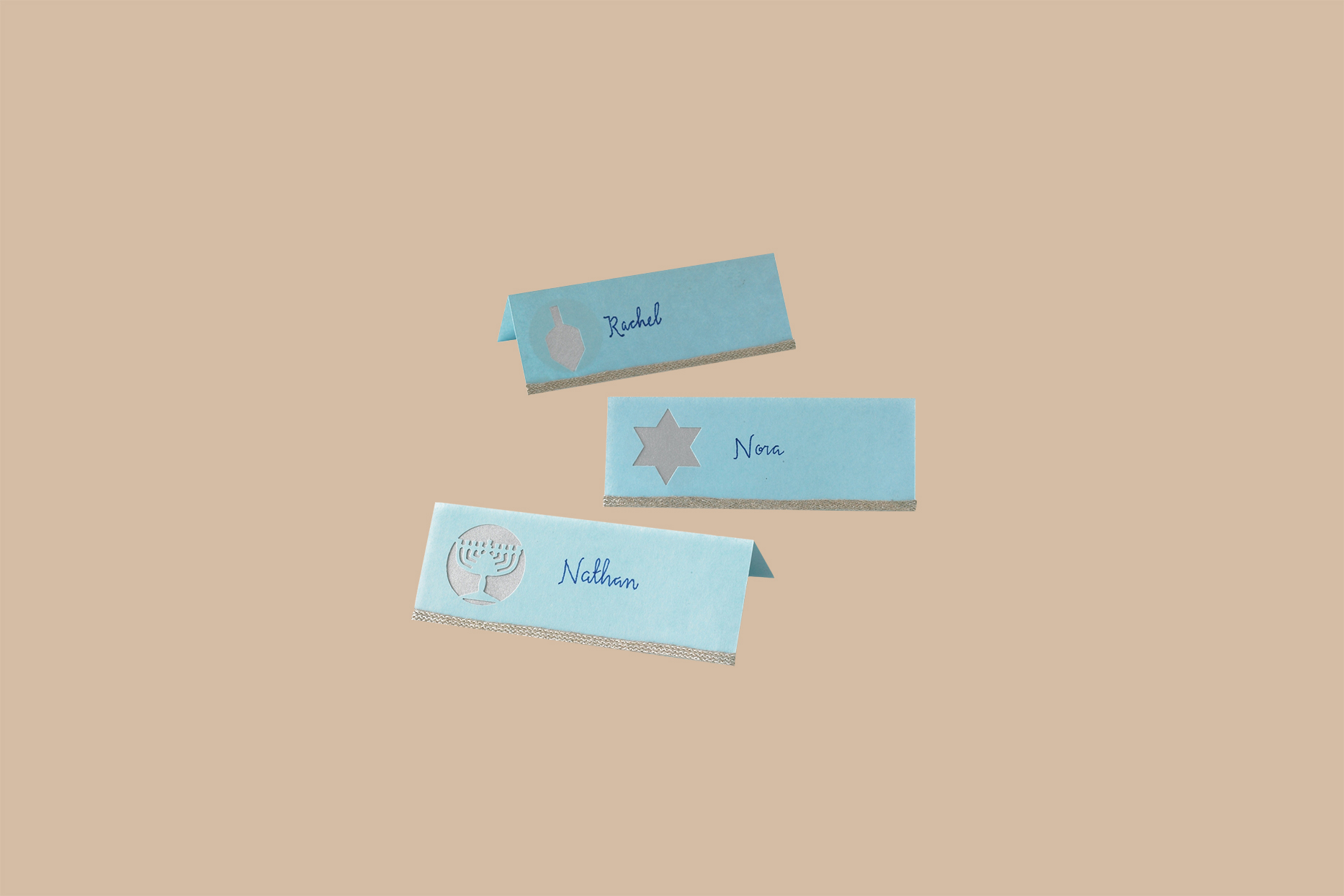 hanukkah place cards with names