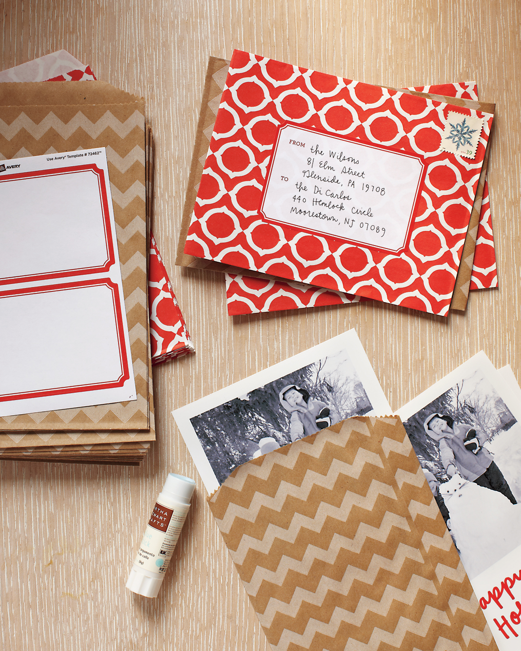 festive craft envelopes