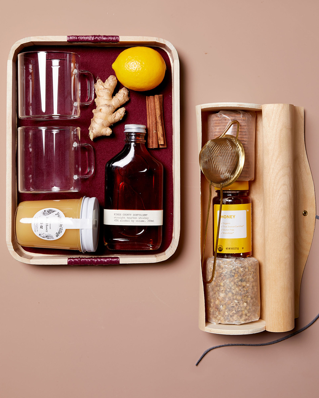 it kit with honey and cocktail makings