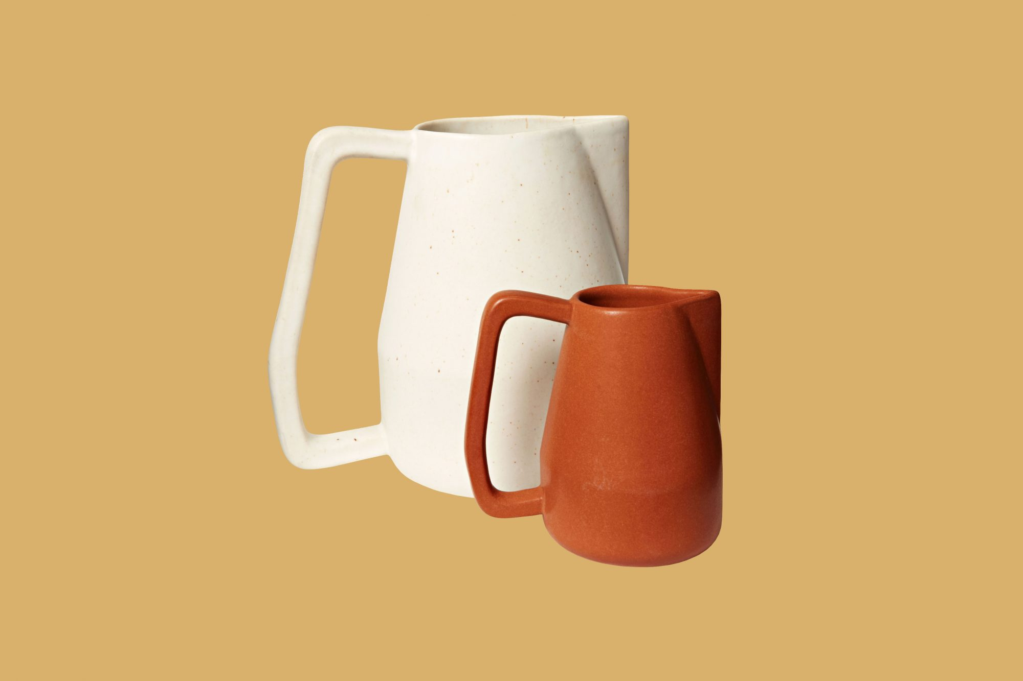 "Bloomist ""Novah"" Pitchers in Brown and White"