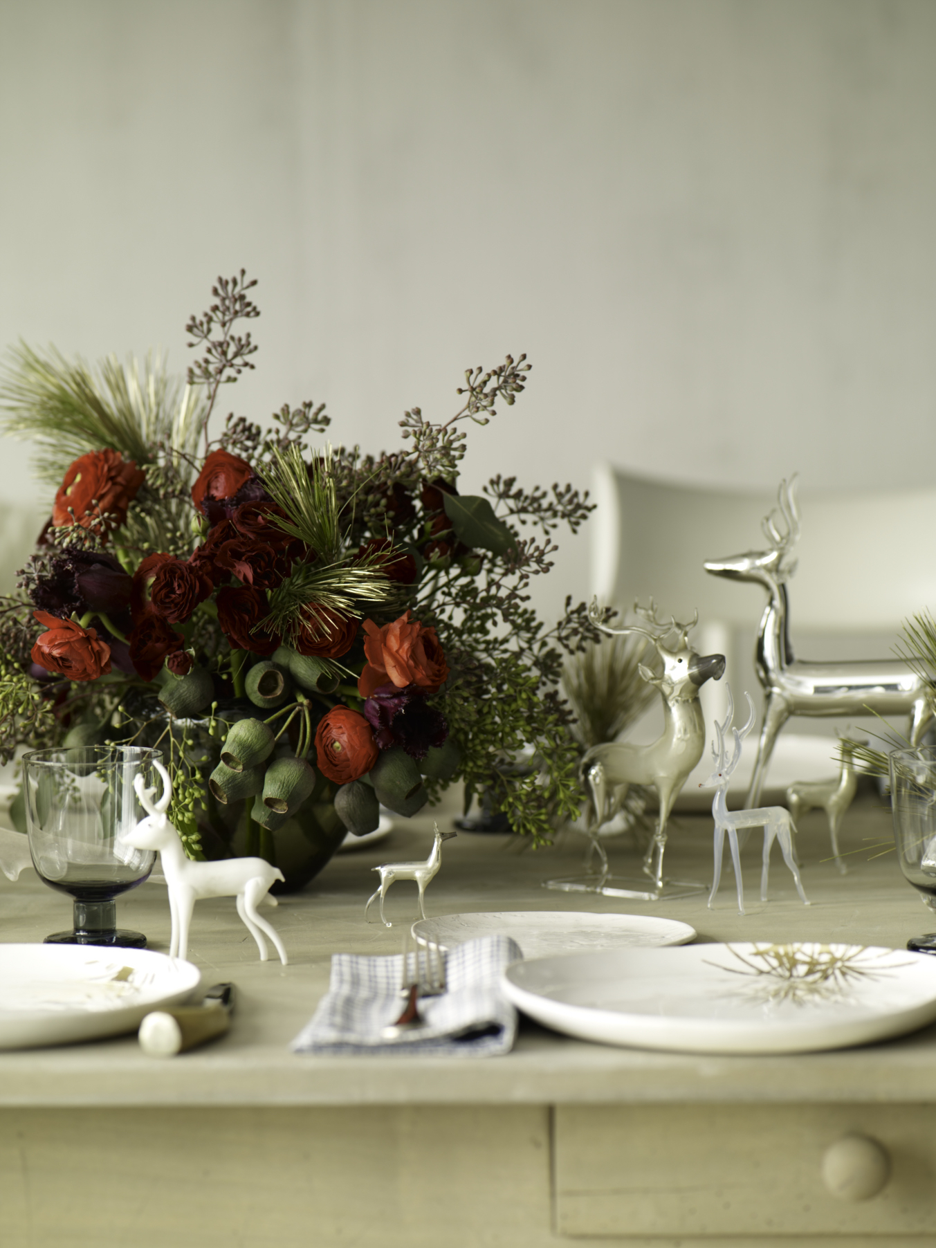 Holiday Reindeer Table