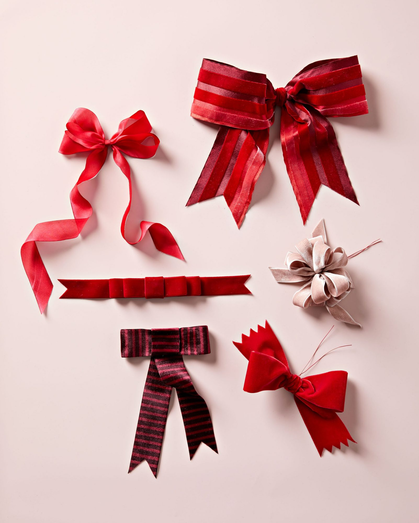 ribbons tied up in bows