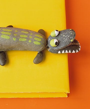 rock alligator craft for kids