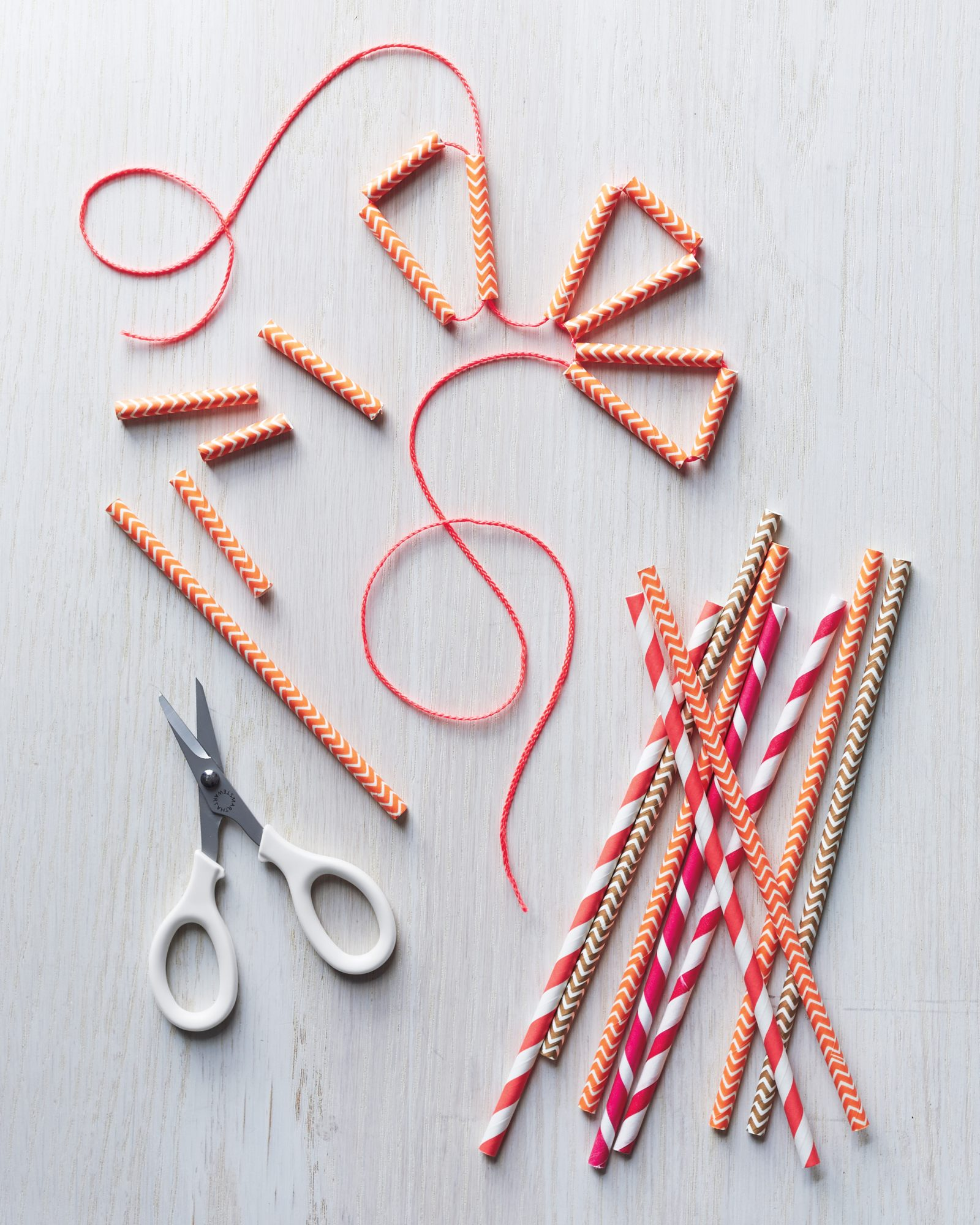 paper straw gift-topper and garland
