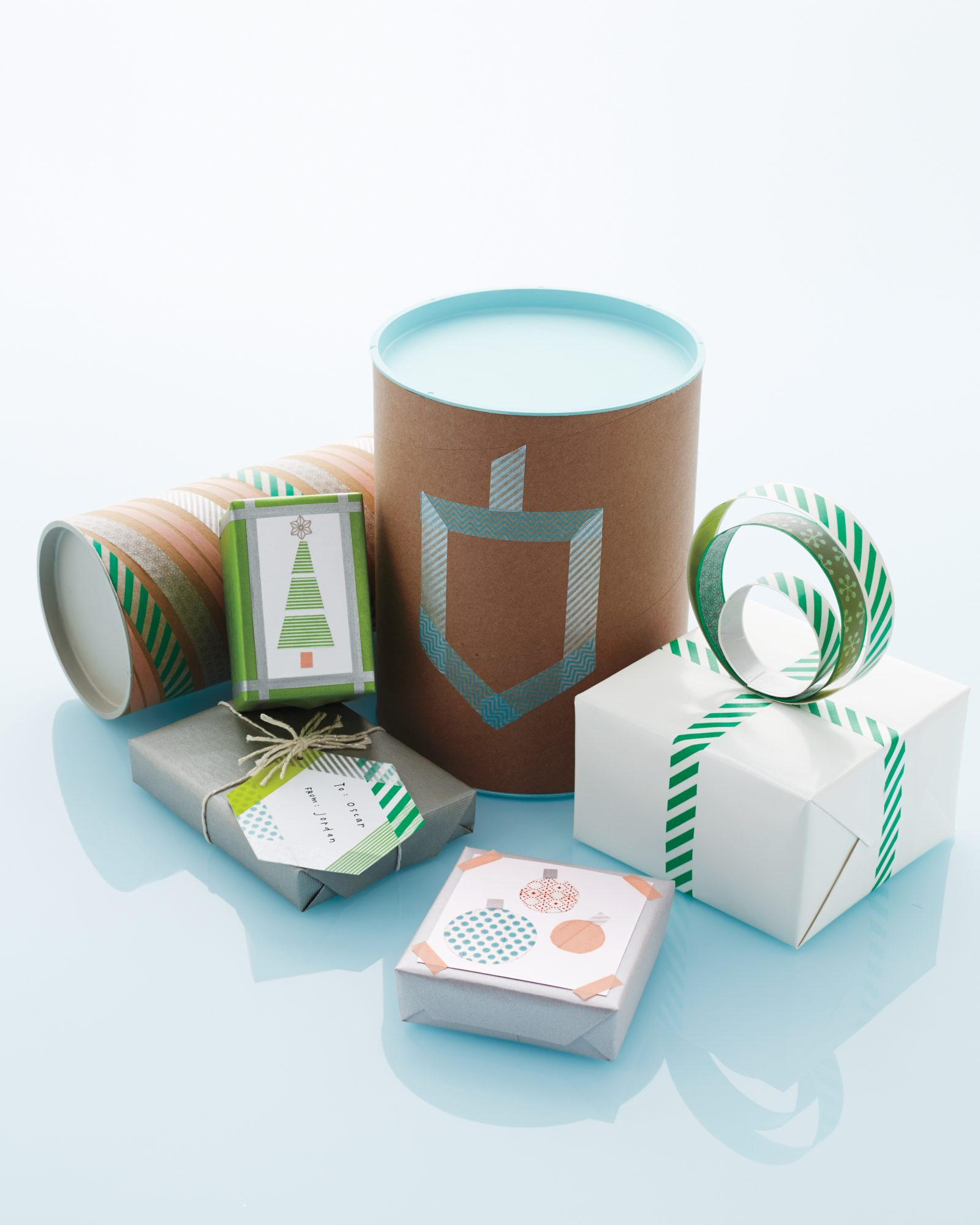 washi tape gift-wrapping