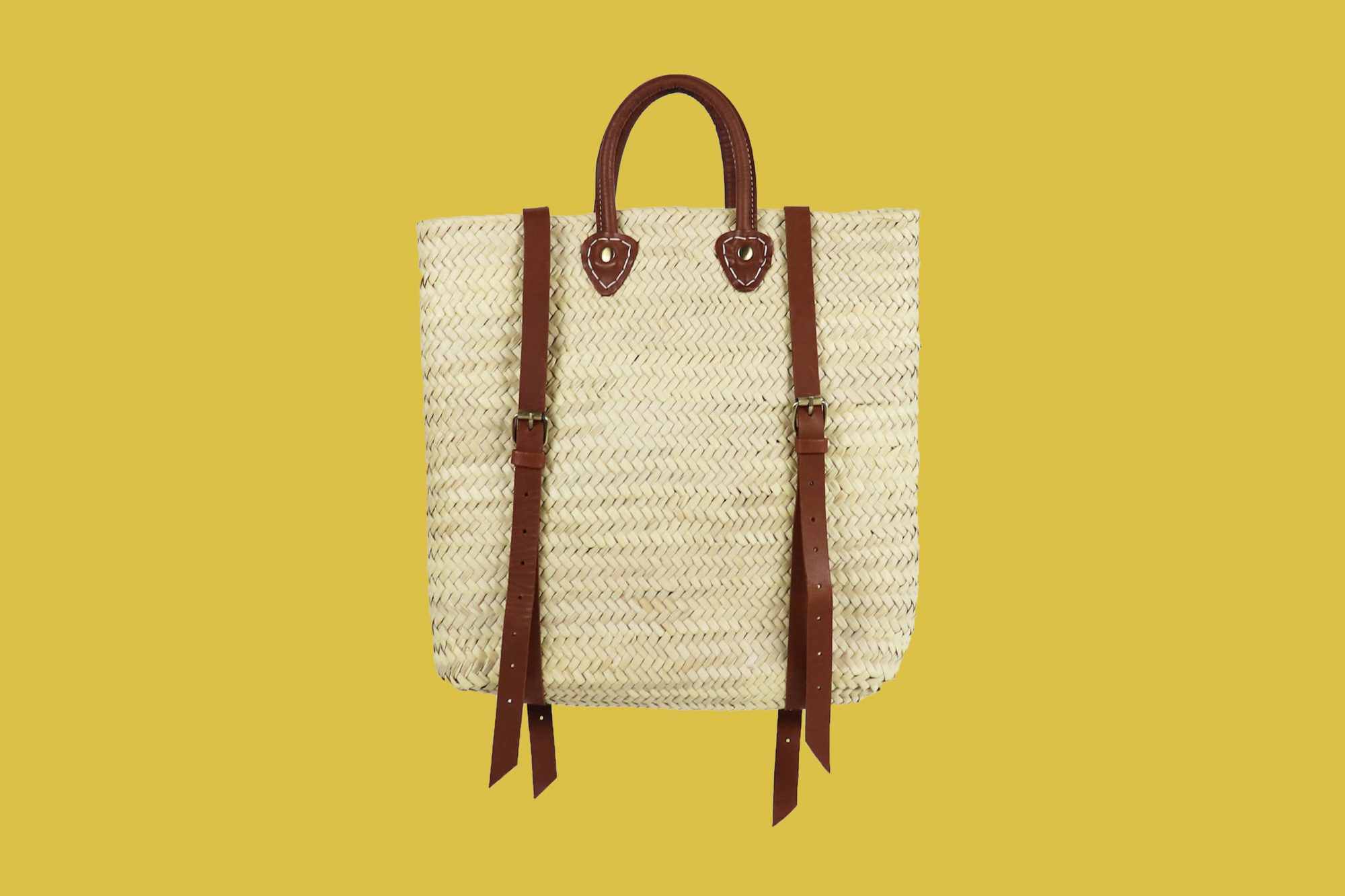 Woven Finds Co. Handmade Straw Backpack