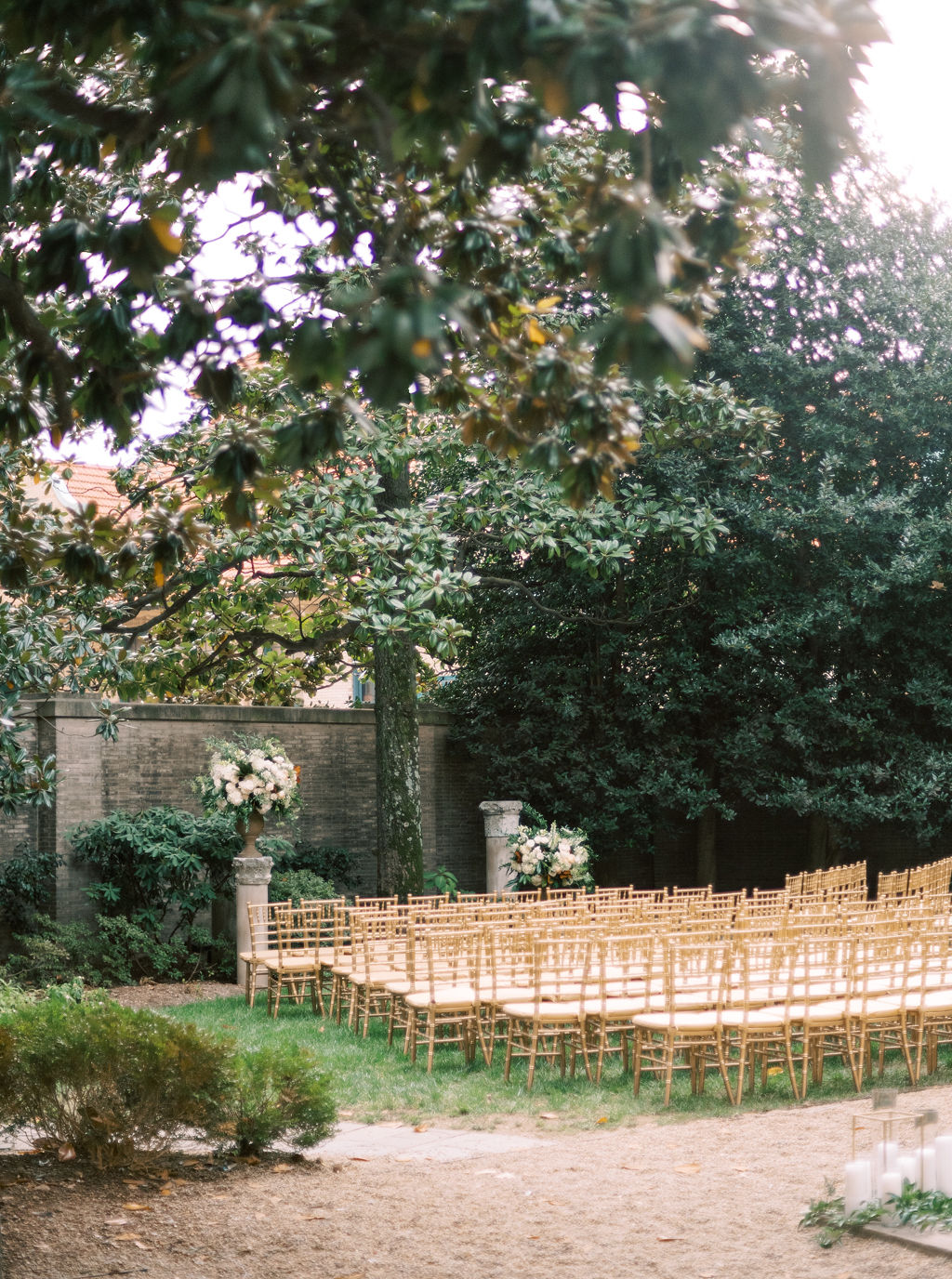 megan henock wedding ceremony location outdoor garden