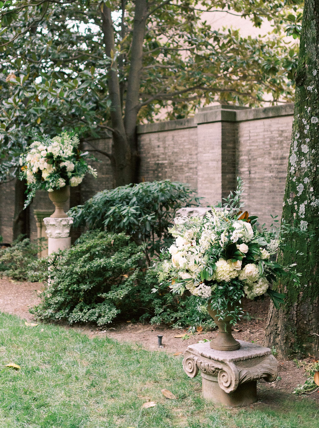 megan henock wedding outdoor ceremony location flowers