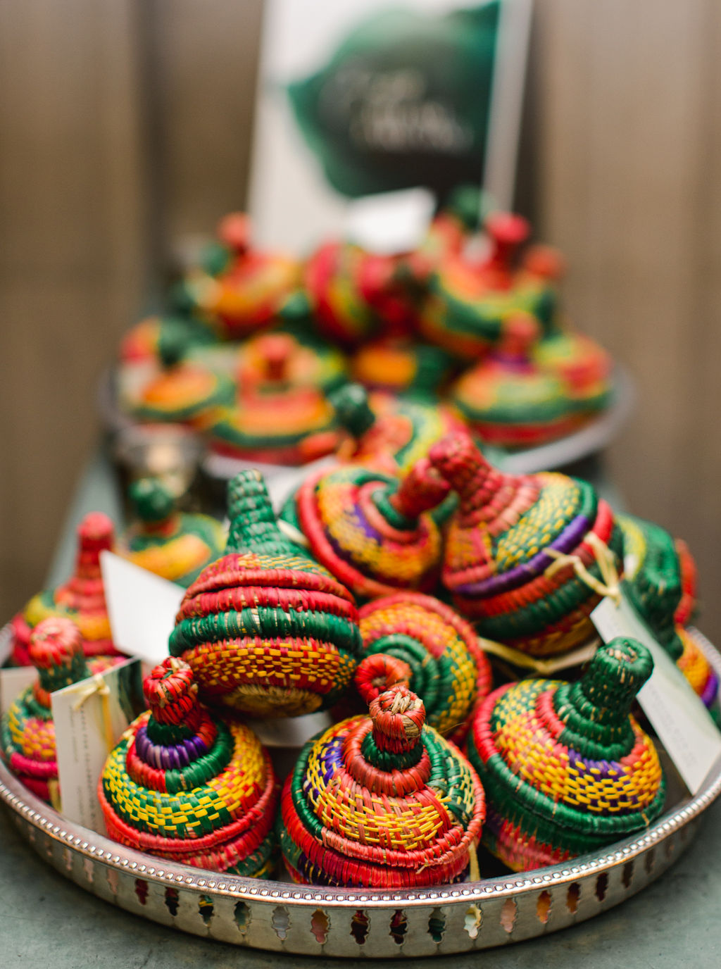megan henock wedding favors colorful mesobs