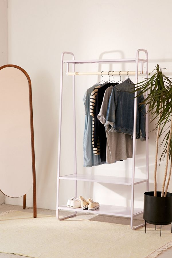 Lilac Color Clothing Rack