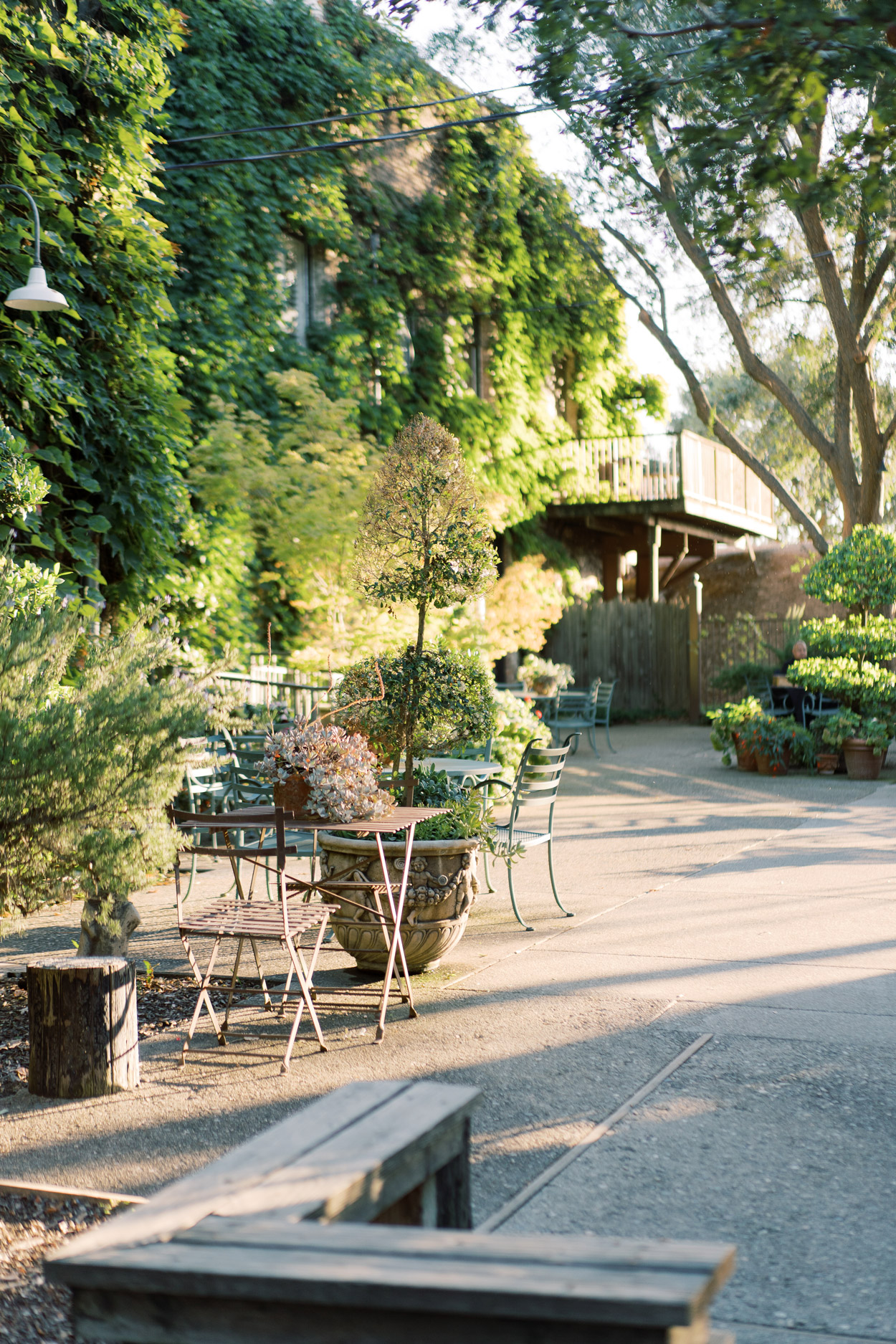 The River Mill outdoor patio with table chairs
