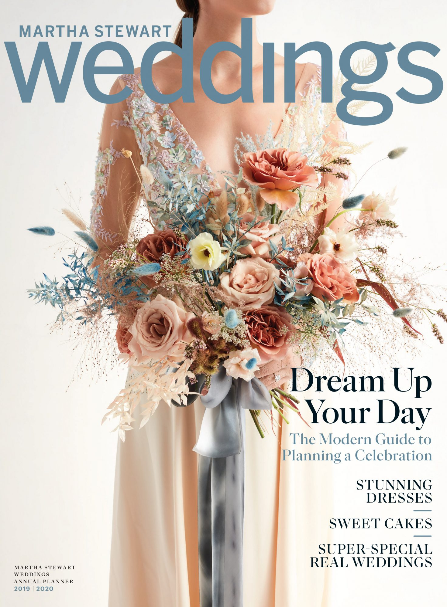 martha stewart weddings annual planner issue bride holding bouquet